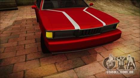 Sentinel PFR HD v1.0 para GTA San Andreas traseira esquerda vista