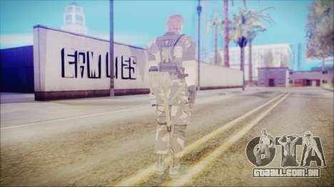 MGSV Phantom Pain Snake Normal Splitter para GTA San Andreas terceira tela