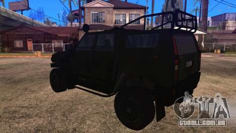 Komatsu LAV 4x4 Unarmed para GTA San Andreas esquerda vista