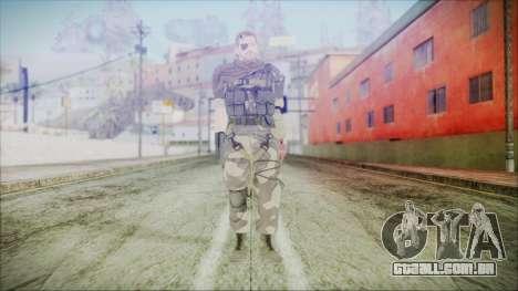 MGSV Phantom Pain Snake Scarf Splitter para GTA San Andreas segunda tela