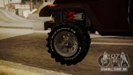 New Mesa Wild para GTA San Andreas traseira esquerda vista