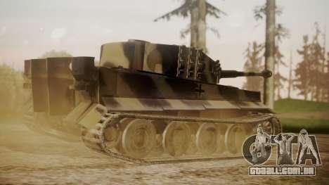 Panzerkampfwagen VI Tiger Ausf. H1 No Interior para GTA San Andreas esquerda vista