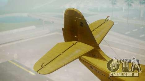 Grumman G-21 Goose VHLXD para GTA San Andreas traseira esquerda vista