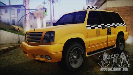 Albany Cavalcade Taxi (Saints Row 4 Style) para GTA San Andreas