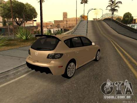 Mazda 3 MPS Tunable para GTA San Andreas vista direita