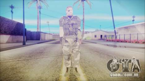 MGSV Phantom Pain Snake Normal Splitter para GTA San Andreas segunda tela