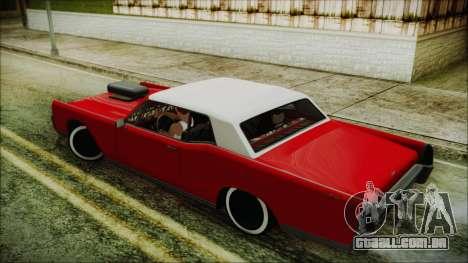 GTA 5 Vapid Chino Custom IVF para GTA San Andreas esquerda vista