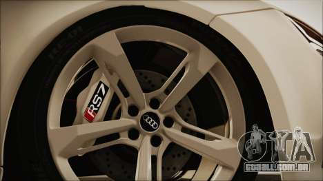 Audi RS7 Sportback 2015 para GTA San Andreas vista traseira
