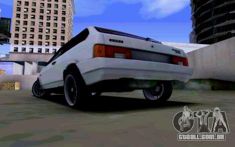 VAZ 2108 V2 para GTA San Andreas traseira esquerda vista
