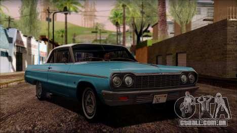 Chevrolet Impala SS 1964 Final para GTA San Andreas esquerda vista