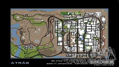 HD Radar Mapa para GTA San Andreas segunda tela