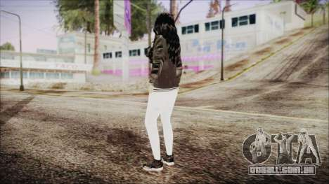 Home Girl White Pants para GTA San Andreas terceira tela