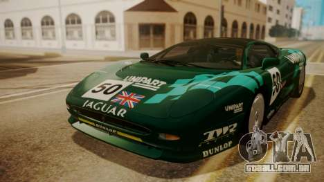Jaguar XJ220 1992 HQLM para GTA San Andreas vista inferior