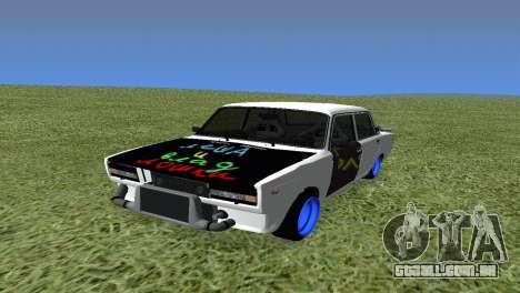 VAZ 2105 Bq Final para GTA San Andreas vista traseira