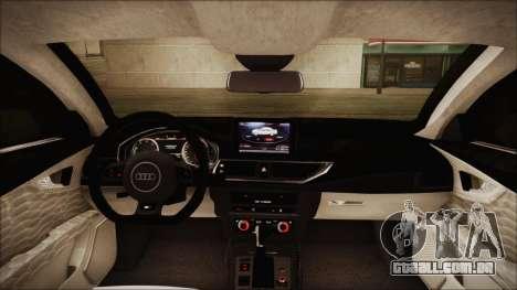 Audi RS7 Sportback 2015 para GTA San Andreas vista inferior