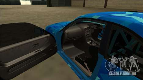 Nissan Skyline R33 Drift Blue Star para GTA San Andreas vista superior