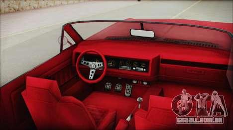 GTA 5 Albany Buccaneer Custom IVF para GTA San Andreas vista direita