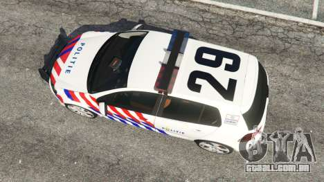 GTA 5 Volkswagen Golf Mk6 Dutch Police voltar vista
