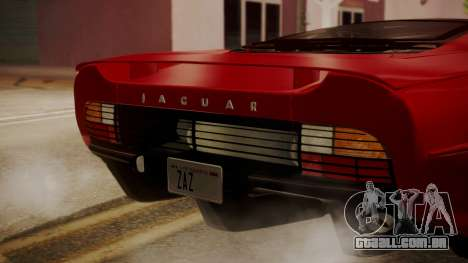 Jaguar XJ220 1992 HQLM para GTA San Andreas vista traseira