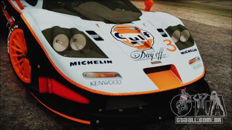 McLaren F1 GTR 1998 para GTA San Andreas vista direita