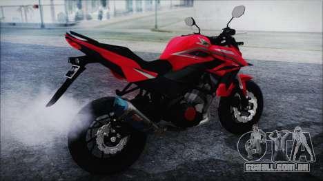 Honda CB150R Red para GTA San Andreas esquerda vista