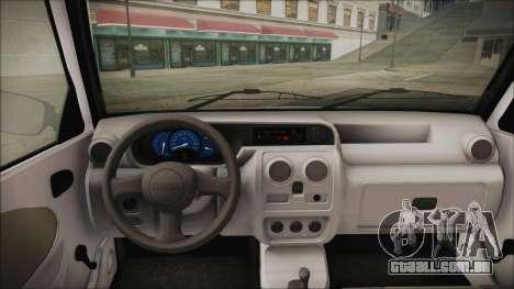 Dacia Solenza Politia para GTA San Andreas traseira esquerda vista