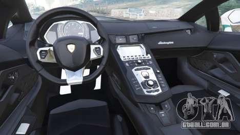 GTA 5 Lamborghini Aventador LP700-4 Dubai Police v5.5 traseira direita vista lateral