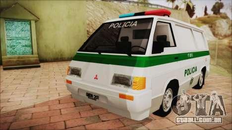 Mitsubishi L300 2008 Patrulha Da Polícia Colombi para GTA San Andreas