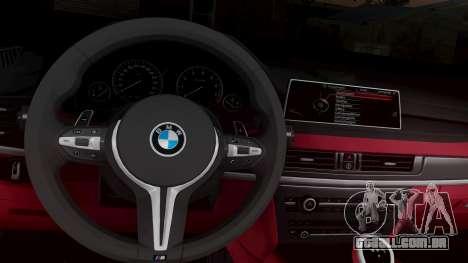 BMW X6M F86 v2.0 para GTA San Andreas vista traseira
