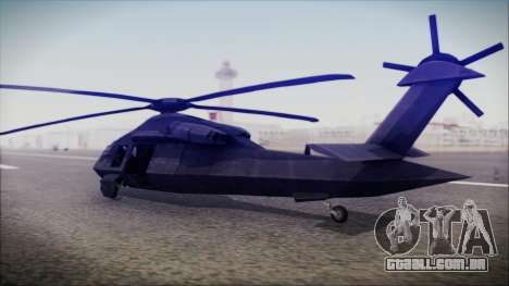 UH-80 Ghost Hawk para GTA San Andreas esquerda vista