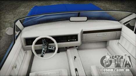 GTA 5 Albany Buccaneer Hydra Version para GTA San Andreas vista direita