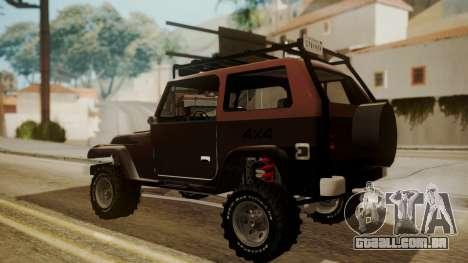 New Mesa Wild para GTA San Andreas esquerda vista