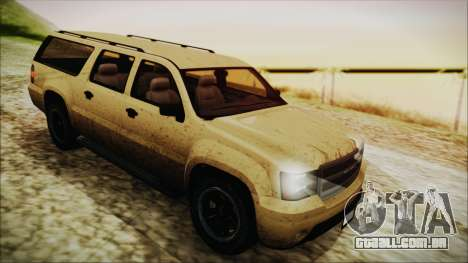 GTA 5 Declasse Granger SA Style para GTA San Andreas vista traseira