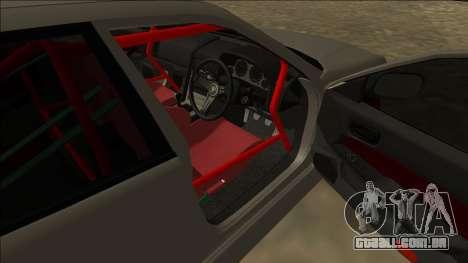 Nissan Skyline ER34 Drift para GTA San Andreas traseira esquerda vista