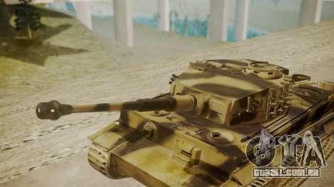Panzerkampfwagen VI Tiger Ausf. H1 para GTA San Andreas vista direita