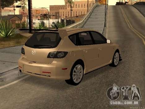 Mazda 3 MPS Tunable para GTA San Andreas vista interior