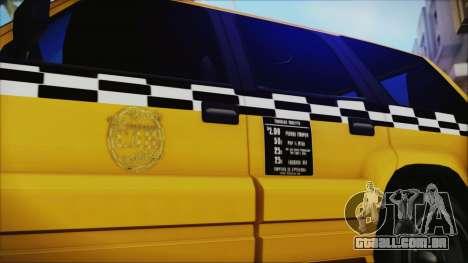 Albany Cavalcade Taxi (Saints Row 4 Style) para GTA San Andreas traseira esquerda vista