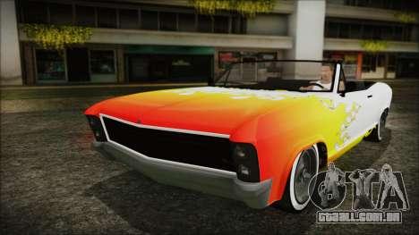 GTA 5 Albany Buccaneer Hydra Version para GTA San Andreas vista superior
