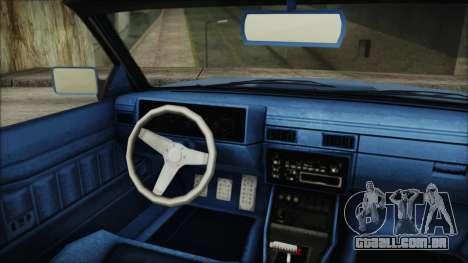 GTA 5 Willard Faction Custom IVF para GTA San Andreas traseira esquerda vista