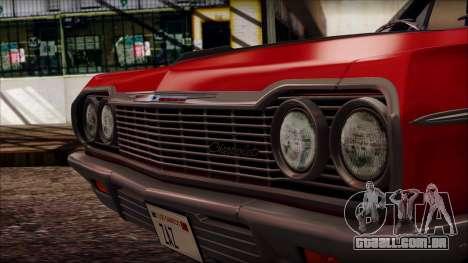 Chevrolet Impala SS 1964 Final para GTA San Andreas vista direita