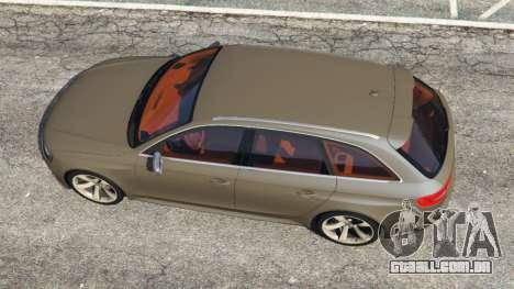 GTA 5 Audi RS4 Avant 2013 voltar vista