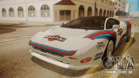 Jaguar XJ220 1992 HQLM para vista lateral GTA San Andreas