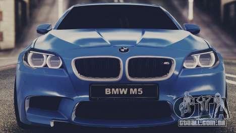 BMW M5 F10 Stock MTA Version para GTA San Andreas traseira esquerda vista
