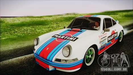 Porsche 911 Carrera RS 2.7 (901) 1973 para GTA San Andreas vista traseira