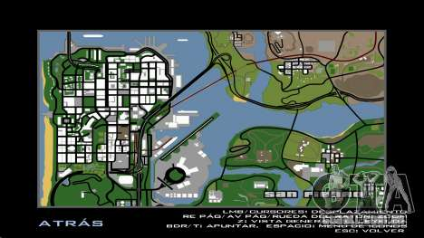 HD Radar Mapa para GTA San Andreas terceira tela