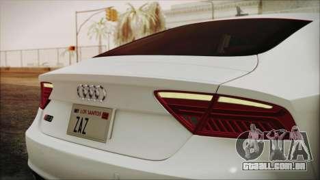 Audi RS7 Sportback 2015 para GTA San Andreas vista interior