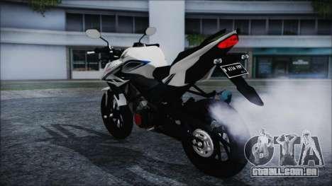 Honda CB150R White para GTA San Andreas esquerda vista
