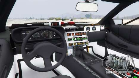 GTA 5 DeLorean DMC-12 Back To The Future traseira direita vista lateral
