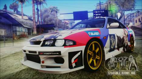 Nissan Skyline R33 Kantai Collection Kongou PJ para GTA San Andreas vista interior
