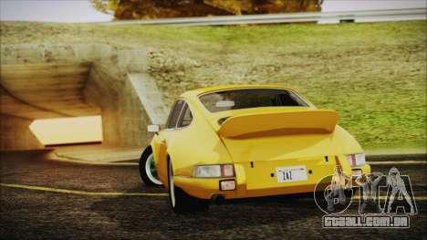 Porsche 911 Carrera RS 2.7 (901) 1973 para GTA San Andreas esquerda vista